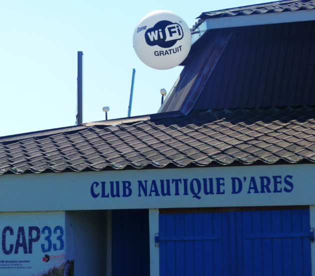 Point wifi au club nautique d'Arès