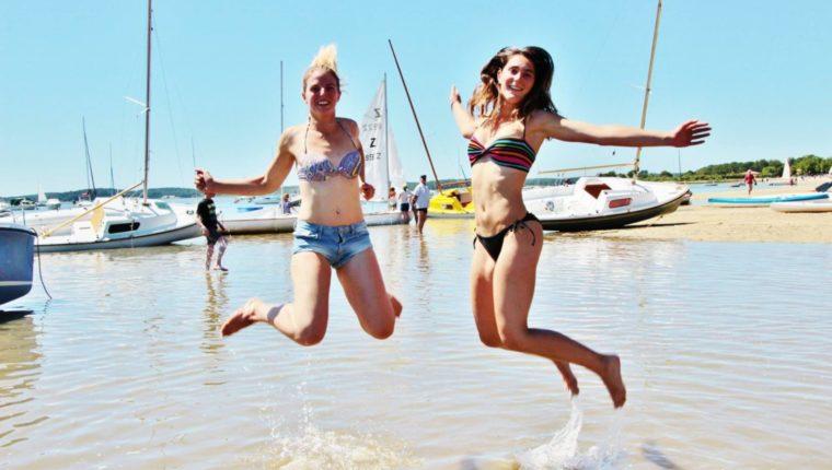 Mes moments préférés à Arès - baignade à Arès