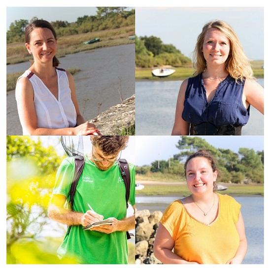 Célia, Aurore, Alexandre, Aurélie, l'équipe d'experts de la destination d'Arès.