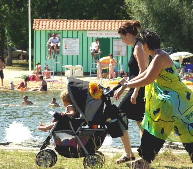 Sinature de Saint- Brice à Arès avec son plan de baignade surveillé
