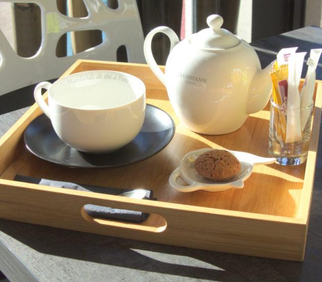 Plateau de thé chez le Théier du Bassin à Arès