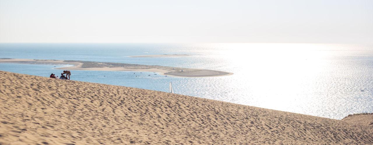 Dune du Pilat avec vue sur le banc d'Arguin, Bassin d'Arcachon