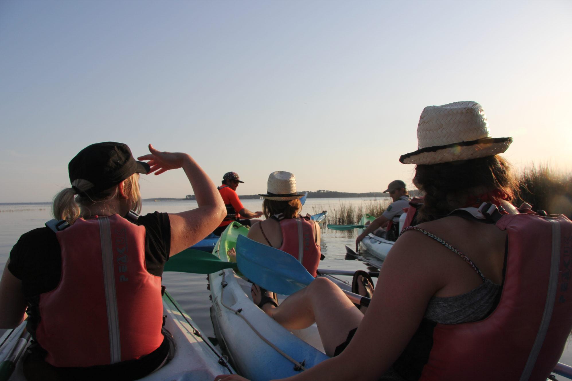 Kayak de mer à Arès, sur le Bassin d'Arcachon